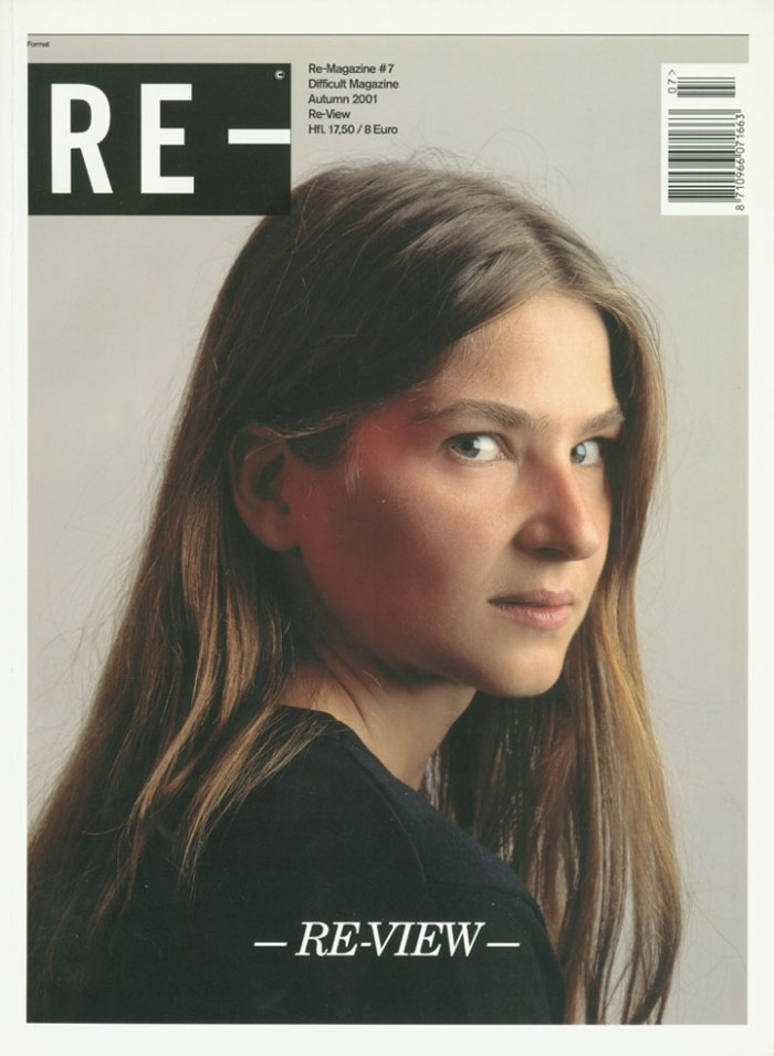 Meriba op de cover van RE-Magazine, 2001