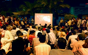 Film sit-in van Mosireen in Egypte (afkomstig van www.beenaproject.com)