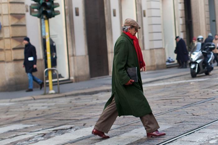 Loden jas (foto: The Sartorialist, Scott Schuman)