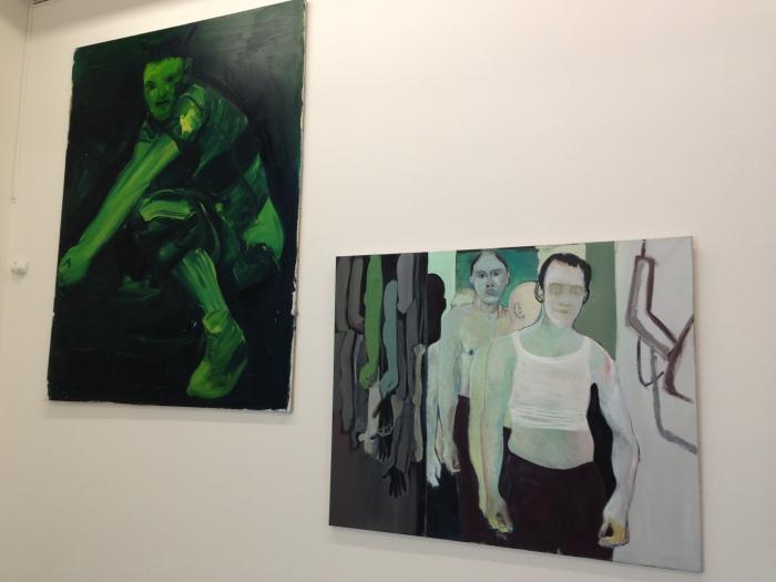 Erik van Lieshout: Brixxx, 1999 en Marlene Dumas: The training course, 1987-1990. Beide collectie SCHUNCK*