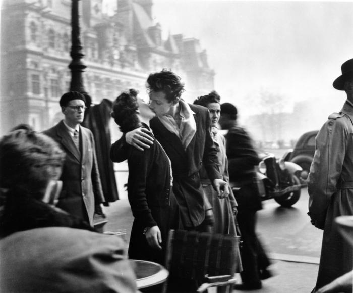 Robert Doisneau: Le Baiser de l'Hotel de Ville, Parijs, 1950