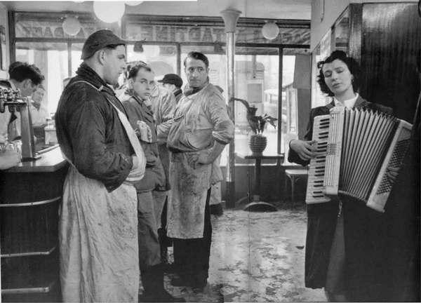 Robert Doisneau: Les Bouchers Mélomanes, La Villette, 1953