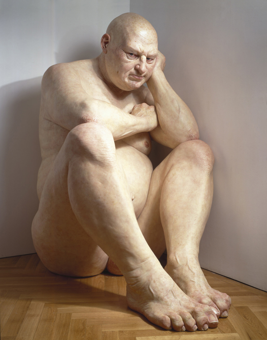 Ron Mueck: Big Man, 2000. (brooklynmuseum.org)