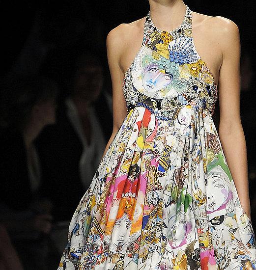 Julie Verhoeven voor Versace, spring 2009