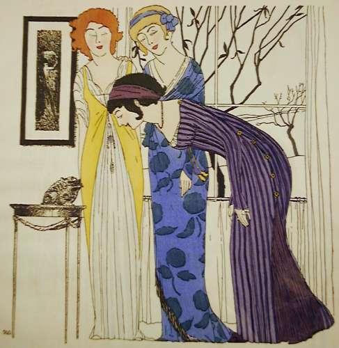 Paul Iribe: Fashon Designs by Paul Poiret, 1908 / La Couturière Parisienne