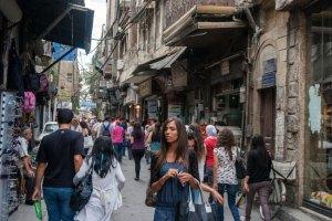 Straatscène in Damascus © Jeroen Kramer / Der Spiegel, 2013