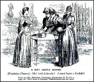 Kodak-advertentie uit 1890