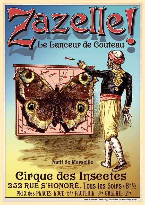 Franse poster voor Zazelle de Messengooier. ca.1910