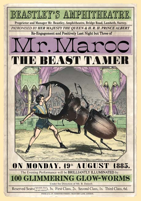 Mr. Maroc, the Beast Tamer. Londen 1885