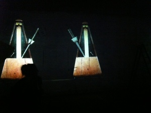 Fragment uit William Kentridge's Refusal of Time, 2012. Gefotografeerd tijdens Documenta 13 in 2012