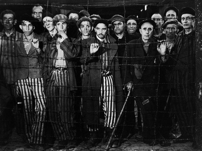 ©Margaret Bourke-White: Overlevenden van Buchenwald concentratiekamp, april 1945