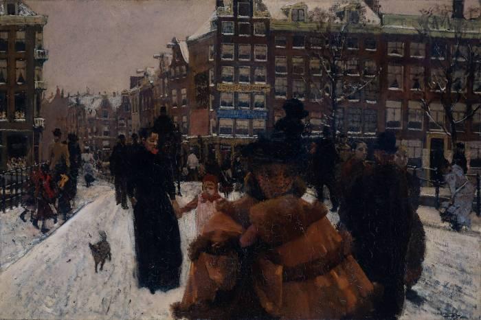 George Hendrik Breitner: De Singelbrug bij de Paleisstraat te Amsterdam, 1896-1898 / Collectie Rijksmuseum