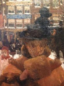 George Hendrik Breitner: De Singelbrug bij de Paleisstraat te Amsterdam, 1896-1898 / Collectie Rijksmuseum (detail)