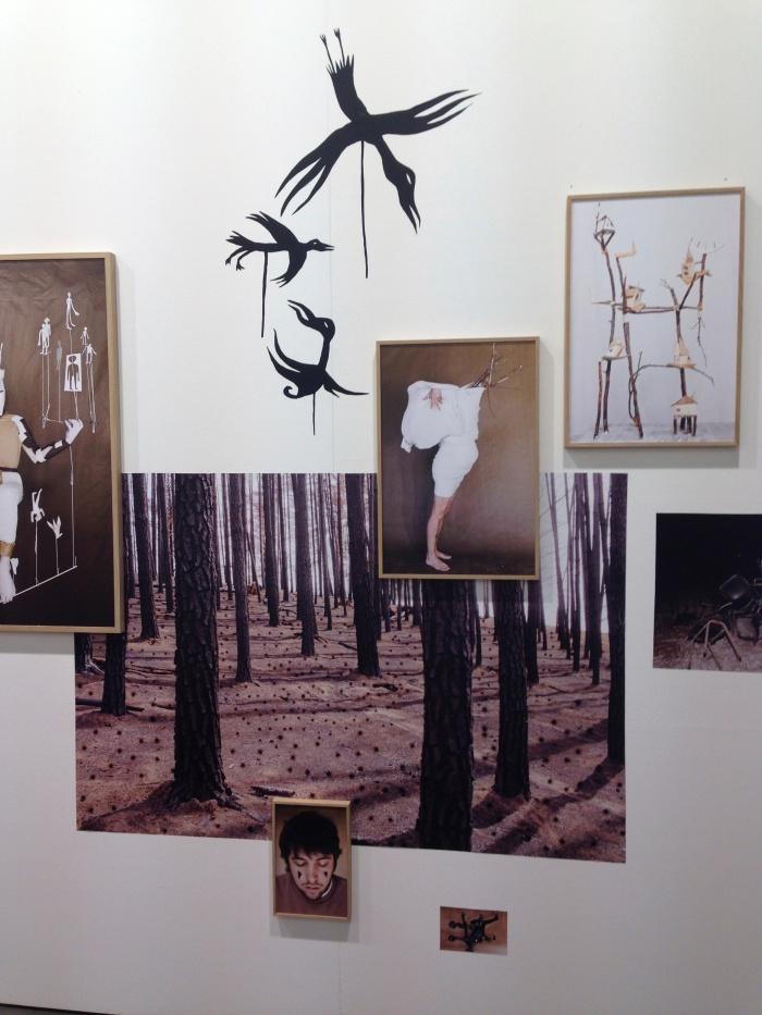 Detail van de installatie van Augustin Rebetez bij Nicola von Senger, Unseen 2014