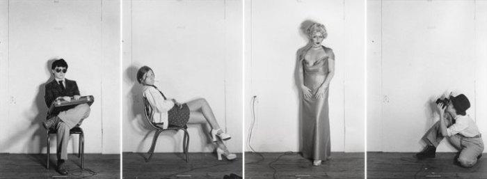 "Cindy Sherman, 1976, uit de serie ""Bus Riders"" and ""Murder Mystery People"""