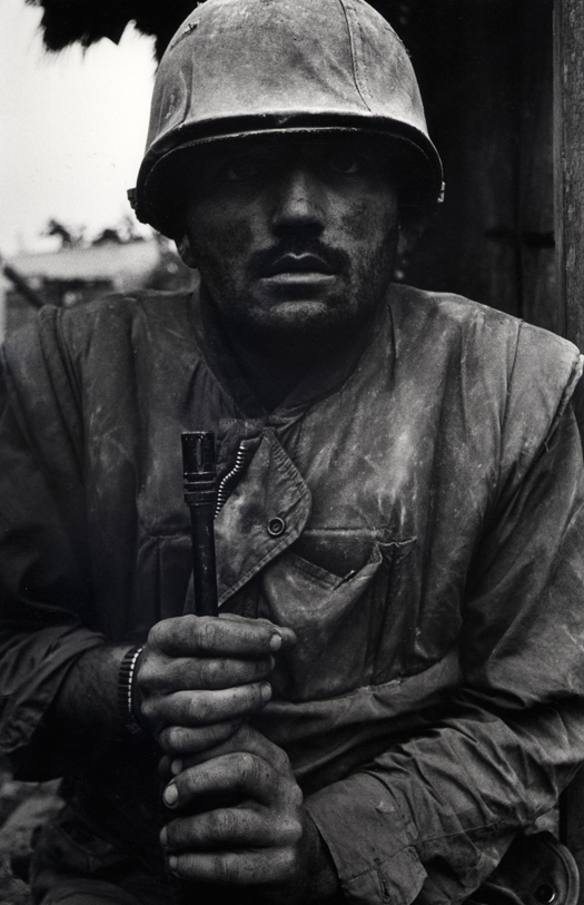 Don McCullin, Shell Shocked US Marine, Vietnam, Hue, 1968, printed 2013 © Don McCullin, courtesy Hamiltons Gallery, London.